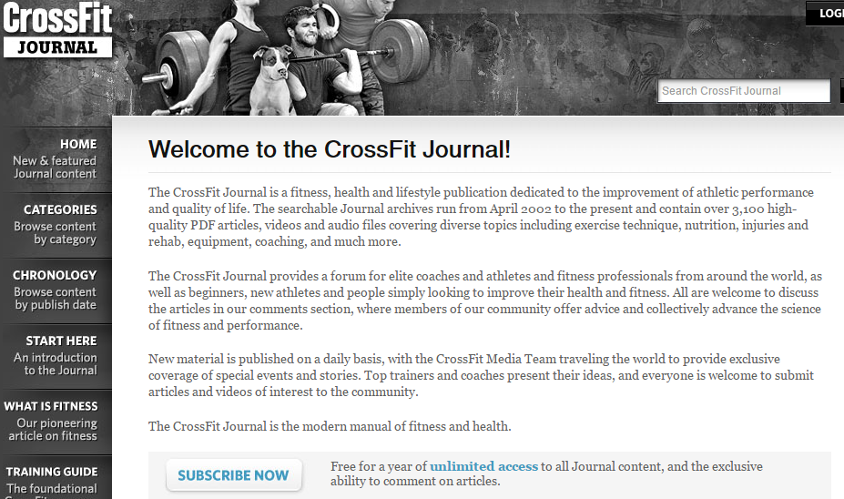 Welcome to the CrossFit Journal